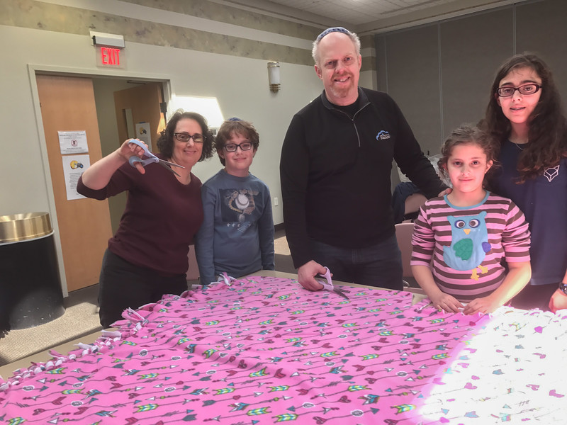2017-04-02 GDD Making kids blankets at CBE-