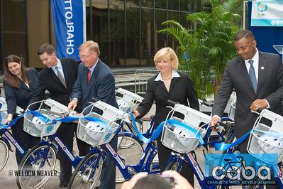 goNC! B-Cycle launch Charlotte, NC. July 12, 2012.