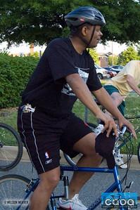 Mayor Foxx biking to work