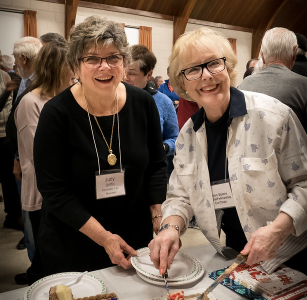 Judy Griffin (Hon Life Member) with Helen Spiers