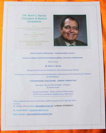 HSMN-Medical Symposium, Saturday July 14, 2012 (Photos by Bala)