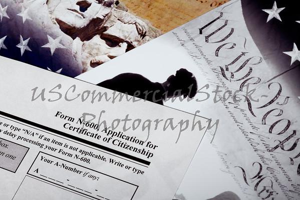 USA Citizenship Immigration Application Closeup