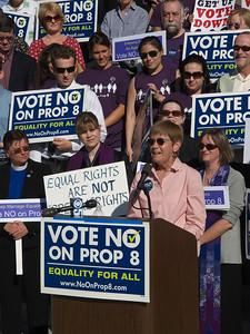 Laurie Carter of PFLAG speaks