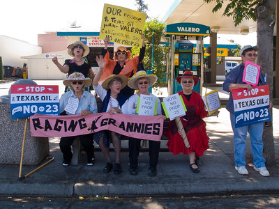 The Raging Grannies are against Prop 23