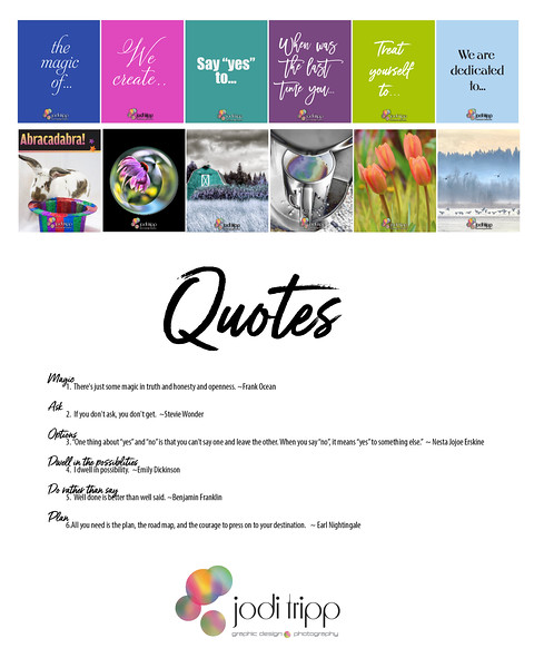 Attract and Inspire Social Media Package Quotes