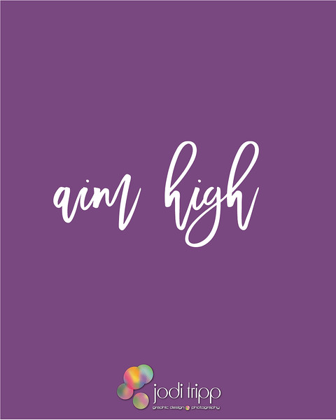 Jodi Tripp -  Social Media Quote - Aim High