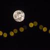 Moon with Christmas Lights