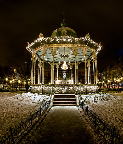 Bergen's Bandstand is ready for Christmas