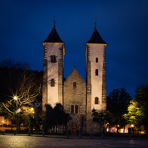 "Project ""Blue Hour Bergen"" - St. Mary's Church (Mariakirken) taken 40 minutes after sunset."