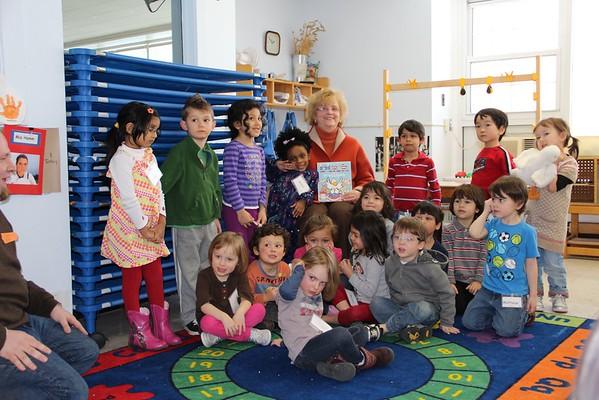 Mazey reads to kids 2/28/14