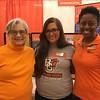 (L-R) Lynda Dixon (professor), Alyssa Rosselot and Inglish Reed (Student ambassadors)