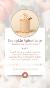 COMPLETE (US) WB Pumpkin Spice Latte