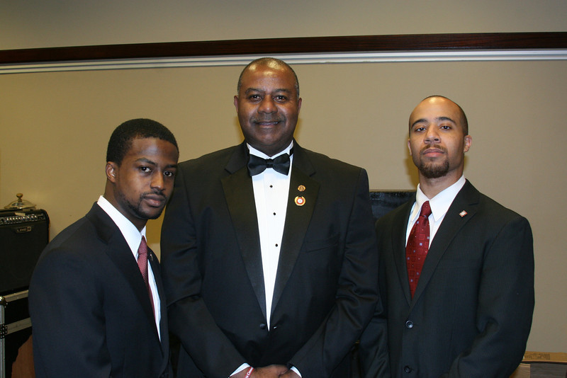 New Initiates Clark Payne and William Judson visit with current Grand Keeper of Records and Exchequer & former Southeastern Province Polemarch, Chester Leaks.