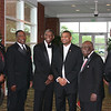 Southeaster Province Polemarch and CDAC member, Lawrence H. Davis (3rd from the right), visits with former Province Polemarchs (L-R) Solomon Bradley, James Freeman, Mel Solomon, C.W. Grant, and Chester Leaks.