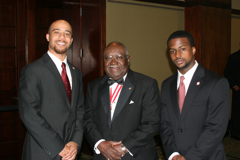 New Initiates Clark Payne and William Judson visit with former Southeastern Province Polemarch, Laurel Wreath and Elder Watson Diggs awardee, C.W. Grant