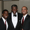 New Initiates Clark Payne and William Judson visit with former Southeastern Province Polemarch, Mel Solomon.