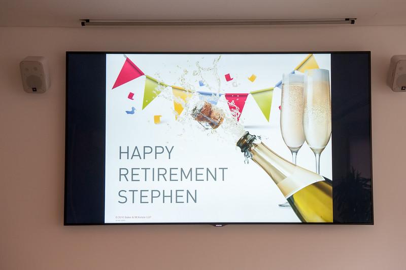 Stephen Jones Retirement Party
