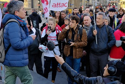Rassemblement en soutien à Geneviève Legay
