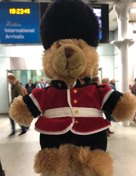 At International Arrivals St Pancras International