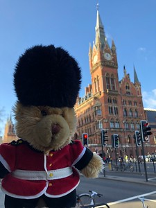 Outside St Pancras International