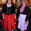 The Tewksbury Lions Club and Rotary Club joined forces on Friday night at the Tewksbury Country Club to host a Sock Hop-themed fundraising event to raise money for local charities. Dress for event in their poodle skirts is Annette Stanford and Marie Davis, both from Billerica. SUN/JOHN LOVE