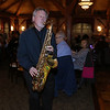 The Tewksbury Lions Club and Rotary Club joined forces on Friday night at the Tewksbury Country Club to host a Sock Hop-themed fundraising event to raise money for local charities. Playing the sax with the band is Bill Mullen. SUN/JOHN LOVE