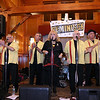 The Tewksbury Lions Club and Rotary Club joined forces on Friday night at the Tewksbury Country Club to host a Sock Hop-themed fundraising event to raise money for local charities. Members of the band Reminisce entertain the crowd at the event. SUN/JOHN LOVE