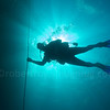 diver silhouette on line