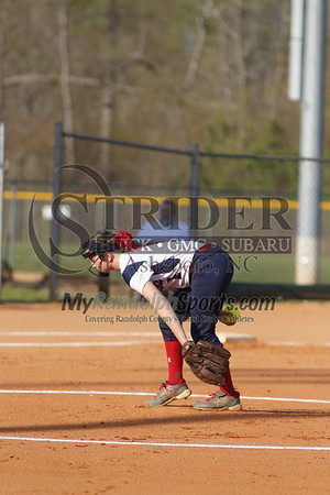 4/13/18 Providence Grove vs Trinity softball