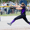 Record-Eagle/Brett A. Sommers Frankfort pitcher Olivia Tomaszewski winds up to pitch during Tuesday's Division 4 quarterfinal against Coleman at Lincoln Elementary in Cadillac. Coleman won 1-0.