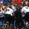 during the Gators' 3-2 loss to the Georgia Bulldogs in an NCAA Super Regional on Friday, May 27, 2016 at Katie Seashole Pressly Softball Stadium in Gainesville, FL / UAA Communications photo by Tim Casey