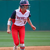 Ole Miss second baseman Haley Culley (1) watches the pitch during an NCAA softball game between Georgia and Ole Miss at Jack Turner Stadium on April 30, 2016 in Athens, Ga.(Photo by Emily Selby)
