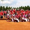 Softball seniors and their families pose for a photo during senior day at Jack Turner Stadium on April 30, 2016 in Athens, Ga. (Photo by Emily Selby)
