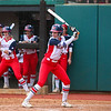 Ole Miss outfielder Kylan Becker (15) bats during an NCAA softball game between Georgia and Ole Miss at Jack Turner Stadium on April 30, 2016 in Athens, Ga.(Photo by Emily Selby)