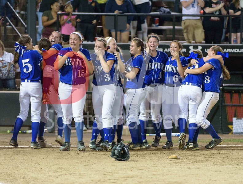 Joy for winning the 5th Maryland 4A softball tournament flows as tears, hugs, and smiles after a tough game against Chopticon High School.