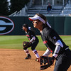 Georgia infielder Lacey Sumerlin (25) during the Bulldogs' game against Dayton at Jack Turner Stadium in Athens, Ga., on Saturday, February 18, 2017. (Photo by Cory A. Cole)