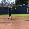 Georgia infielder Alyssa DiCarlo (8) during the Bulldogs' game against Dayton at Jack Turner Stadium in Athens, Ga., on Saturday, February 18, 2017. (Photo by Cory A. Cole)