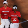 Georgia outfielder Tyra Holliday (22) during the Bulldogs' game against Georgia Southern at Jack Turner Stadium in Athens, Ga. on Wednesday, March 29, 2017. (Photo by Cory A. Cole)