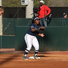 Georgia Southern outfielder Mekhia Freeman (6) during the Bulldogs' game against Georgia Southern at Jack Turner Stadium in Athens, Ga. on Wednesday, March 29, 2017. (Photo by Cory A. Cole)