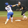 Georgia infielder Lacey Sumerlin (25) and Kentucky outfielder Kelsee Henson (19) during the Bulldogs' game against Kentucky at Jack Turner Stadium in Athens, Ga. on Sunday, March 19, 2017. (Photo by Cory A. Cole)
