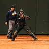 Georgia catcher Mahlena O'Neal (11) during the Bulldogs' game against Louisiana-Monroe at Jack Turner Stadium in Athens, Ga., on Saturday, February 18, 2017. (Photo by Cory A. Cole)