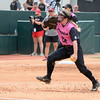 Georgia's Kylie Bass at the softball game against South Carolina on April 29, 2017. (Photo by Caitlyn Tam)