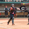 Georgia's Maeve McGuire at the softball game against South Carolina on April 29, 2017. (Photo by Caitlyn Tam)