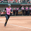 Georgia's Sydni Emanuel at the softball game against South Carolina on April 29, 2017. (Photo by Caitlyn Tam)