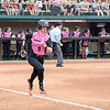 Georgia's Alysen Febrey at the softball game against South Carolina on April 29, 2017. (Photo by Caitlyn Tam)
