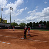 South Carolina catcher Jordyn Augustus (3) and Georgia infielder Alysen Febrey (9) during the Bulldogs' game against South Carolina at Jack Turner Stadium in Athens, Ga. on Sunday, April 30, 2017. (Photo by Cory A. Cole)