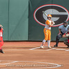 Kylie Bass pitches, Mahlena O'Neal catches