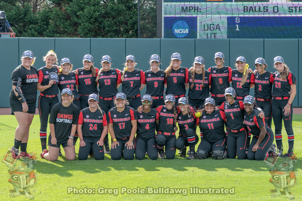 Georgia Softball after clinching 2018 Women's College World Series spot.