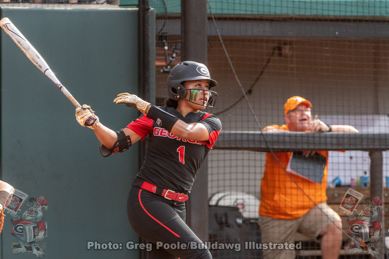 Cortni Emanuel hits her third career home run against Tennessee.