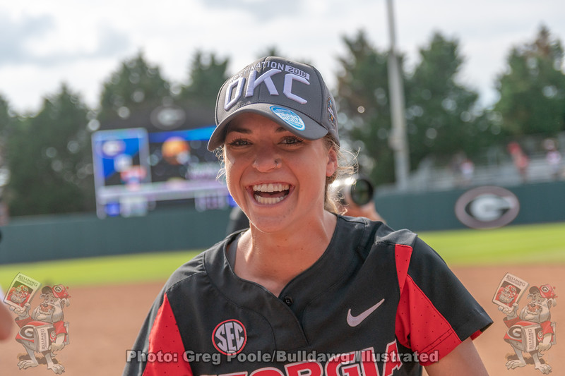 Kendall Burton with the victory smile